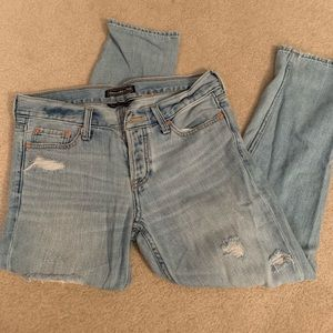 Light wash Abercrombie and Fitch jeans
